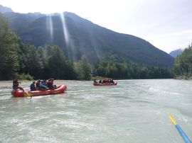 mountani views on bella coola river eco rafting tour kynoch adventures bella coola bc canada